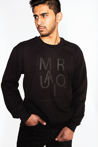 Black jigsaw sweater shot